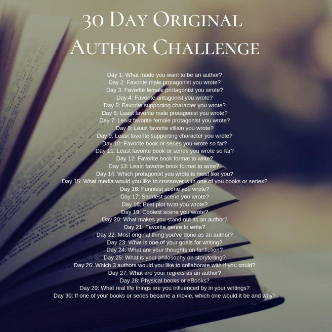 30 Day Original Author Challenge